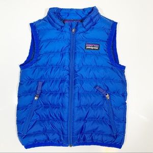 Patagonia Toddler Puffer Vest Zip Blue Pockets 18M